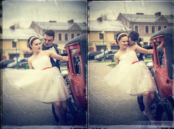 Vintage style wedding photo session