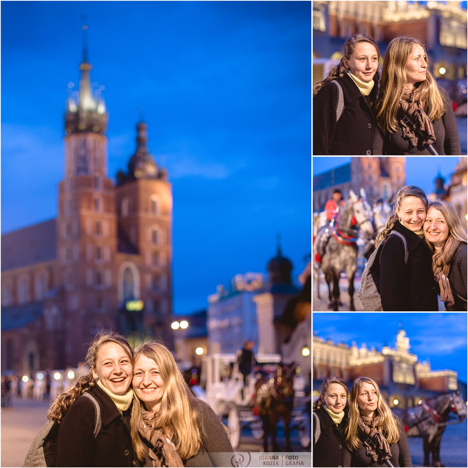 portrait of mother and daughter, Kraków, Old Town