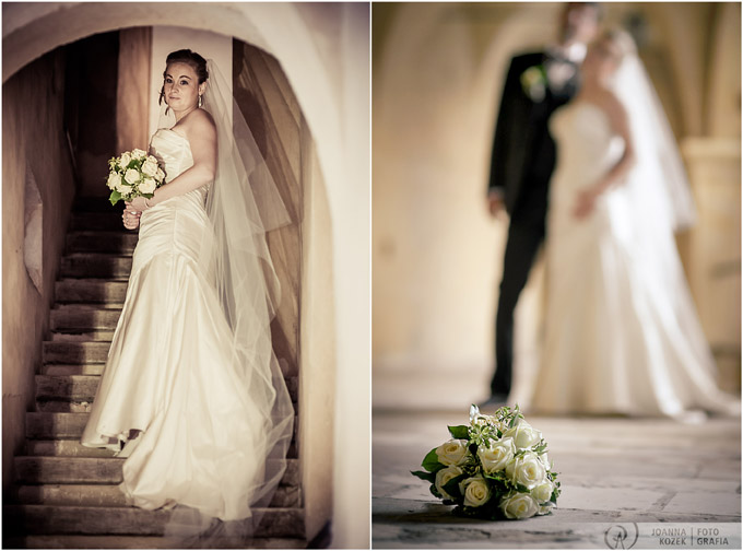bridal portrait in the castle
