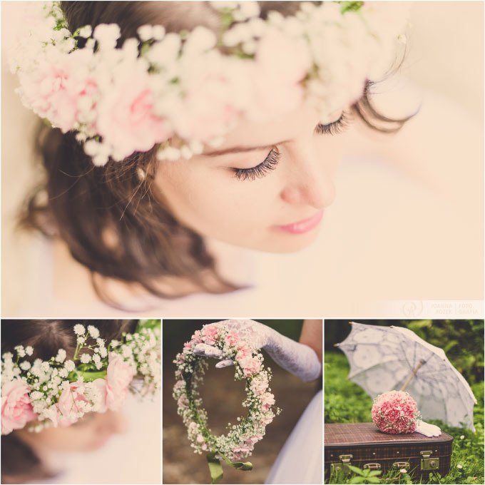 vintage style wedding session